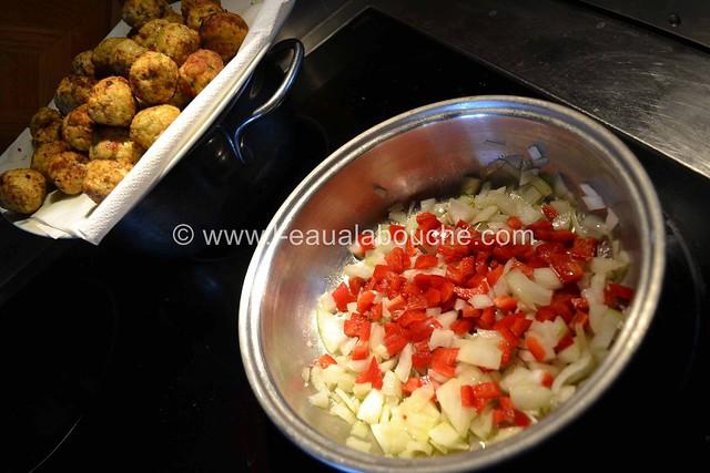 Keftas de Dinde Courgettes  © Ana Luthi Tous droits réservés 05