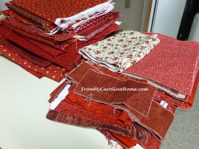 Red Fabrics for Scrap Dance Waltz ~ From My Carolina Home