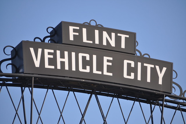 Flint vehicle city arches in downtown flint during back to for Walgreens garden city mi