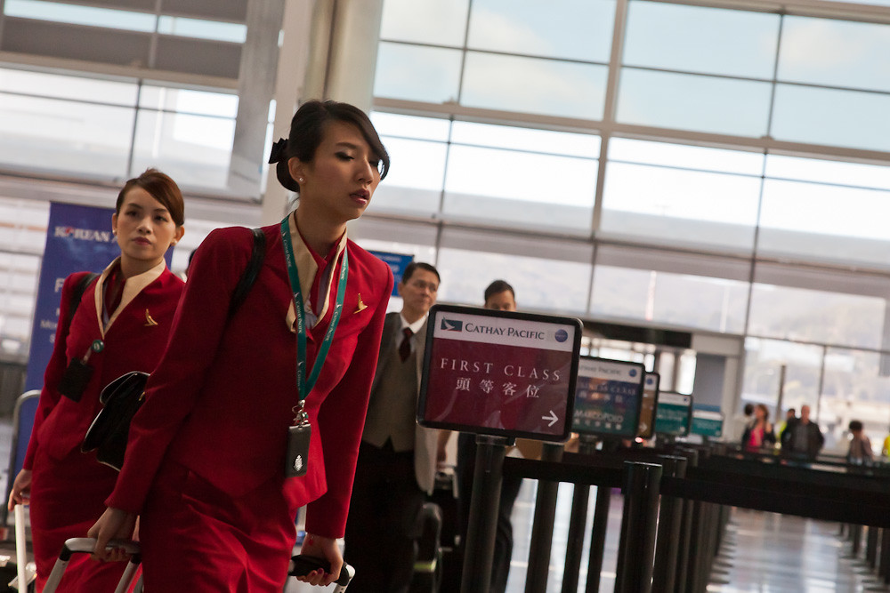 Cathay Pacific flight attendants | San Francisco Intl (SFO ...