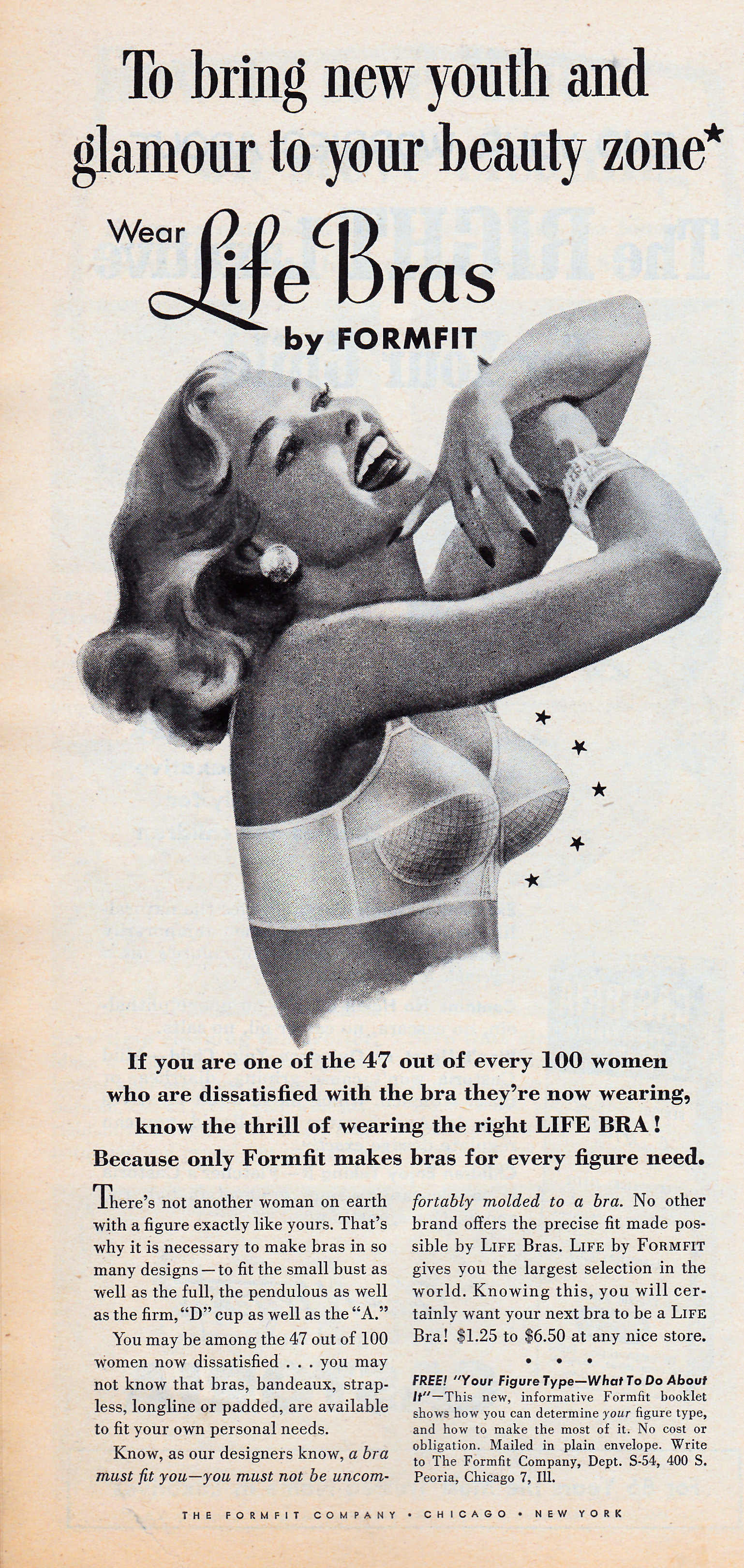 Life Bras by Formfit - date unknown