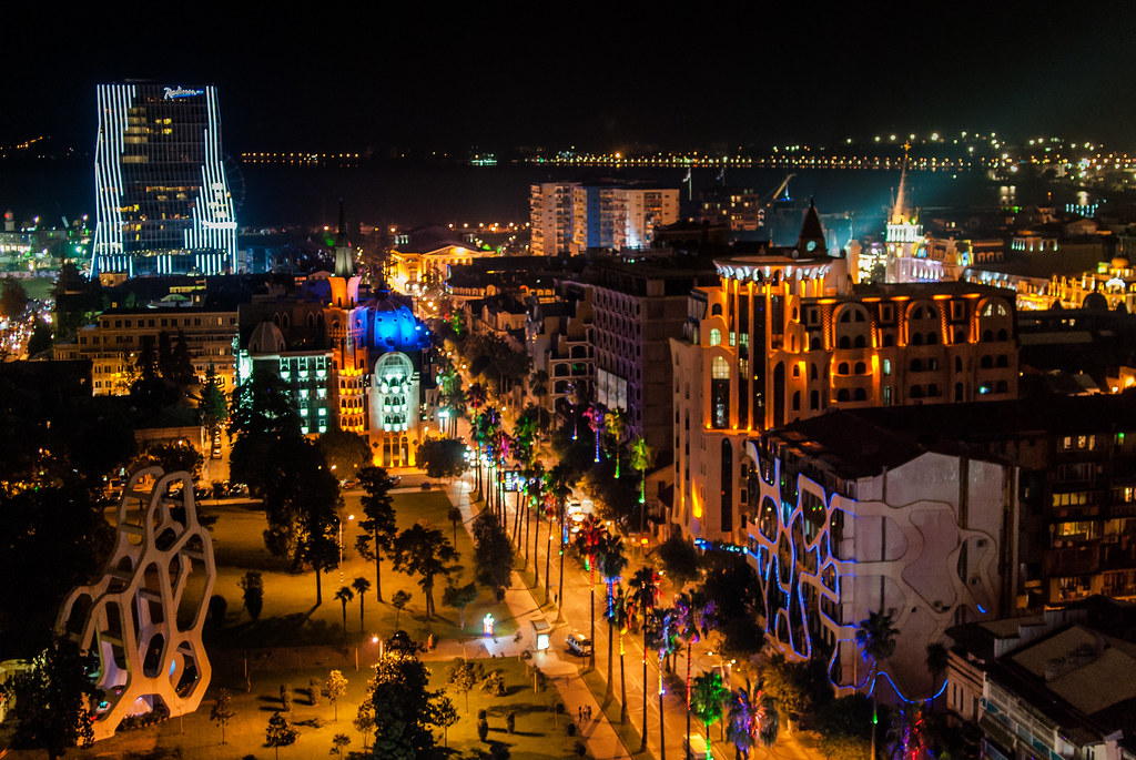 Batumi (former Soviet republic of Georgia) is what would happen if Salvador Dalí won the contract to design Walt Disney World. [1024 × 685]
