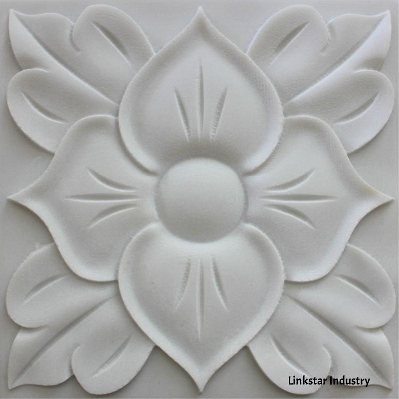 White Stone 3d Textures Covering Art Panels 3d White
