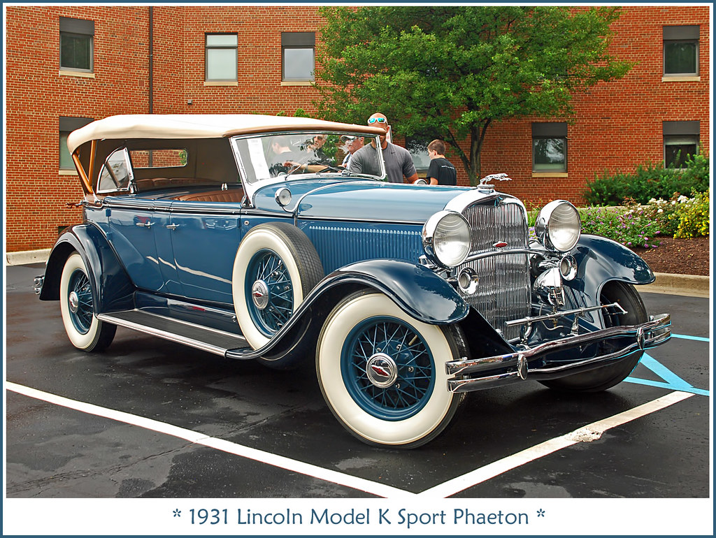 1931 Lincoln Sport Phaeton Photographed On July 27 2013