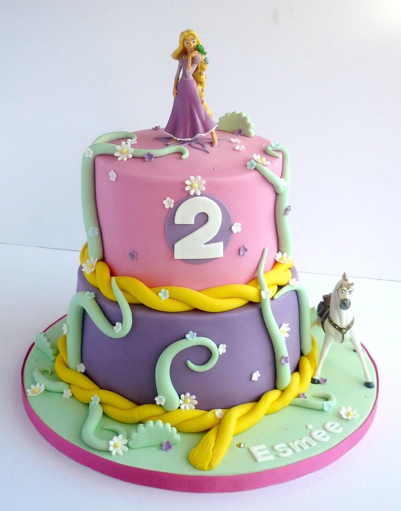 Tangled Themed Birthday Cakes