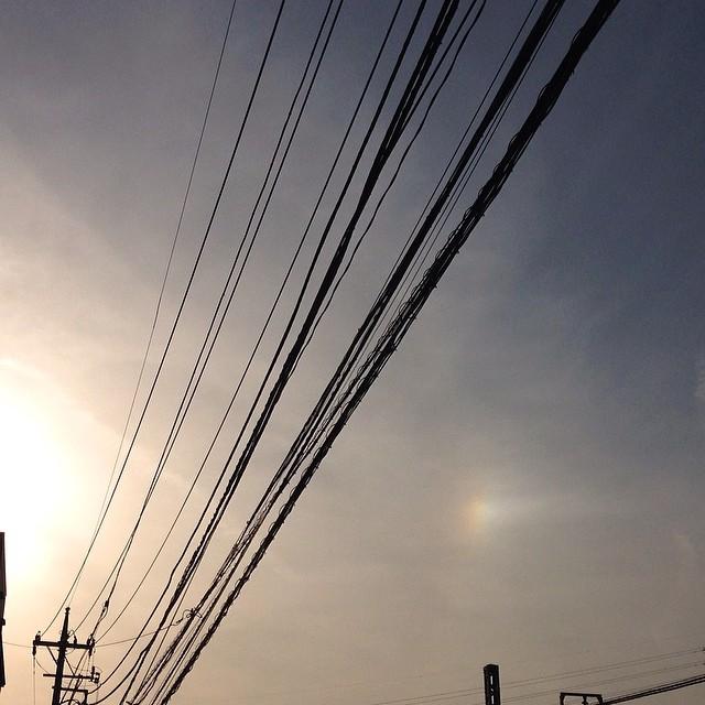 今日の横浜某所にて観測した幻日。初めて写真に収めることができたよ。