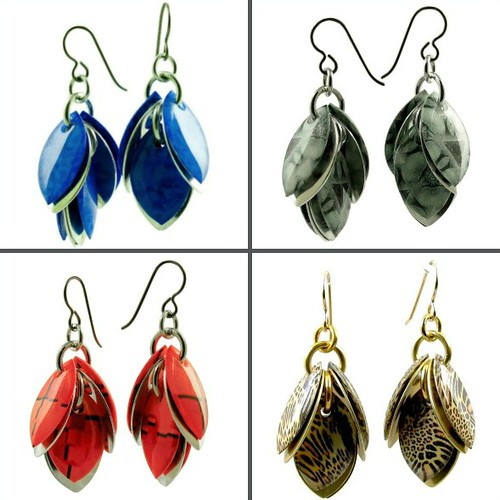 Diana Ferguson Jewelry - Petals to the Metal Dangle Earrings