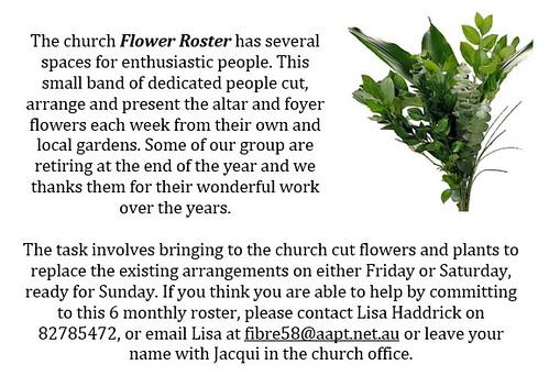 Church Flower Roster