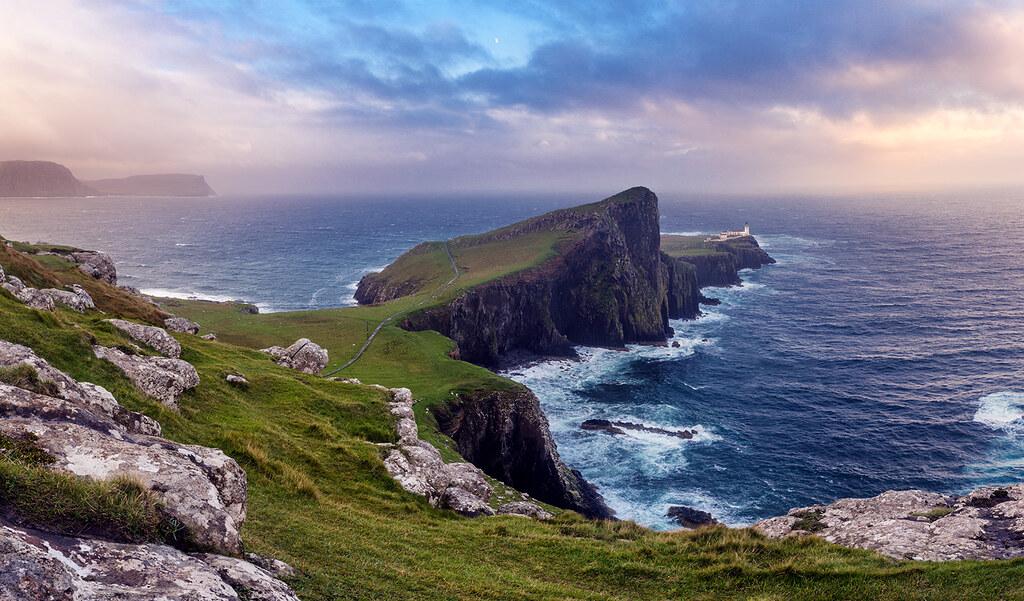 Illuminate Neist Point Isle Of Skye Scotland At
