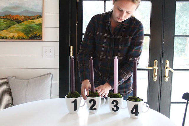 DIY Advent Candle {Wreath}