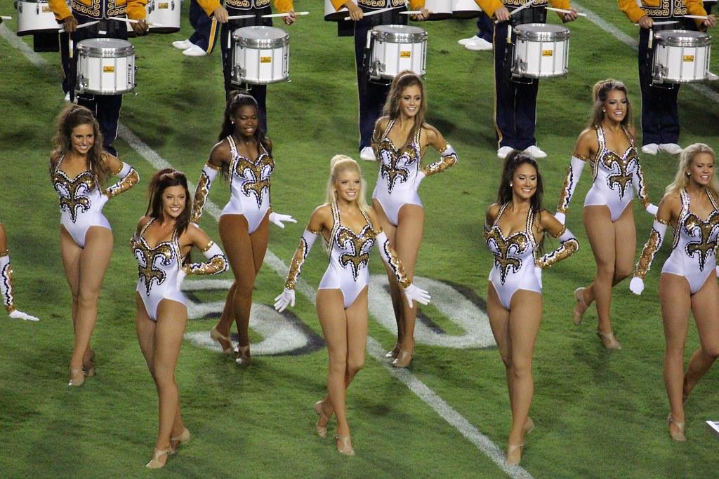 lsu football lsu golden girls pretty girls cheerleaders da flickr