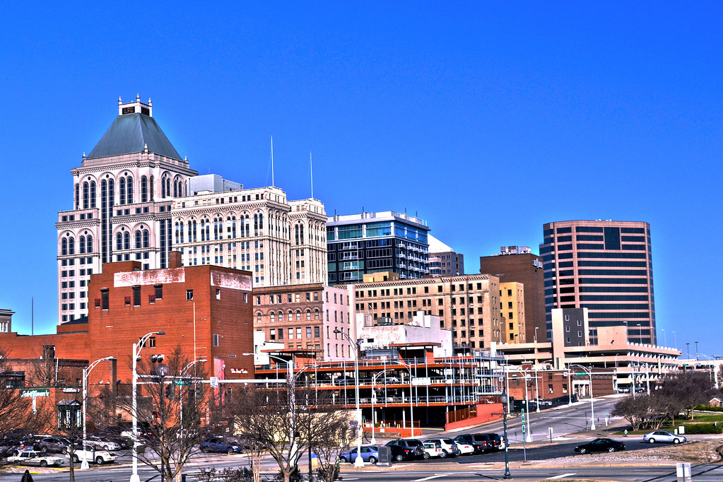 Greensboro Skyline, Greensboro NC, Downtown, Guilford Coun… | Flickr