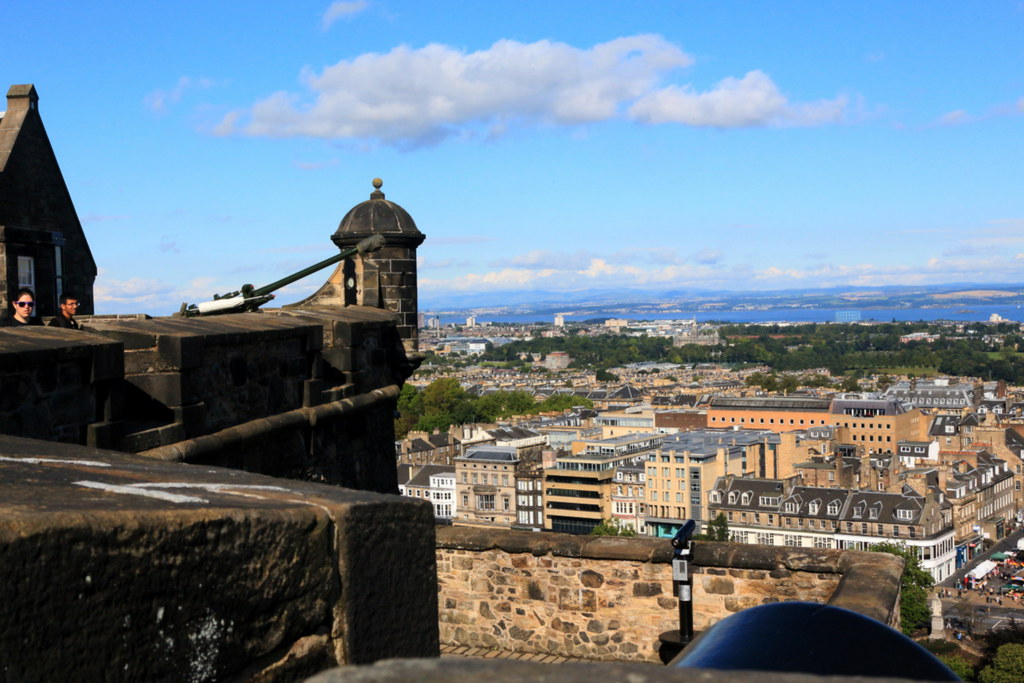 Edinburgh View From Edinburgh Castle Plus The Castle Def
