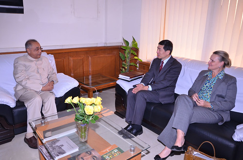 Meeting with V. Kishore Chandra Deo, Minister of Tribal Affairs and Panchayati Raj | by UNDP in India