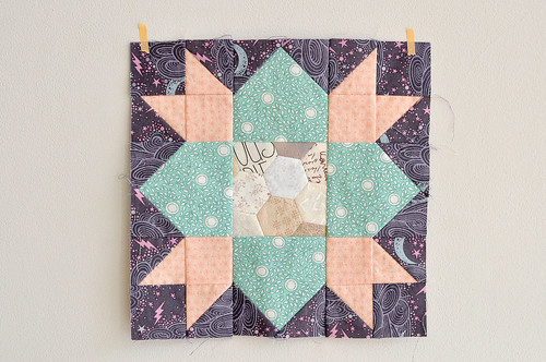 Johanna's Star Block with Hexagon centre
