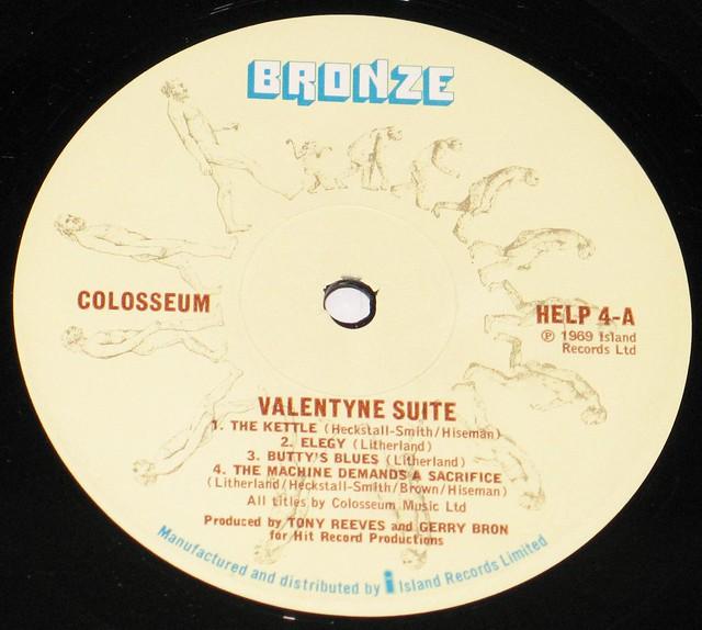 """Colosseum Valentyne Suite 12"""" vinyl LP"""