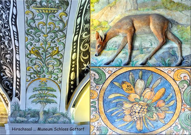 Landesmuseums für Kunst und Kulturgeschichte Schleswig ... Schloss Gottorf ... Renaissance ... Hirschsaal - Fotos und Collagen: Brigitte Stolle 2016