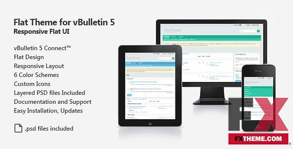 Preview Flat Theme for vBulletin 5 Connect Fxtheme Randell
