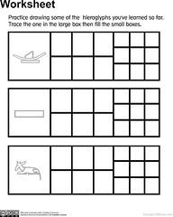 Egyptian for Kids Lesson 6 Worksheet 1