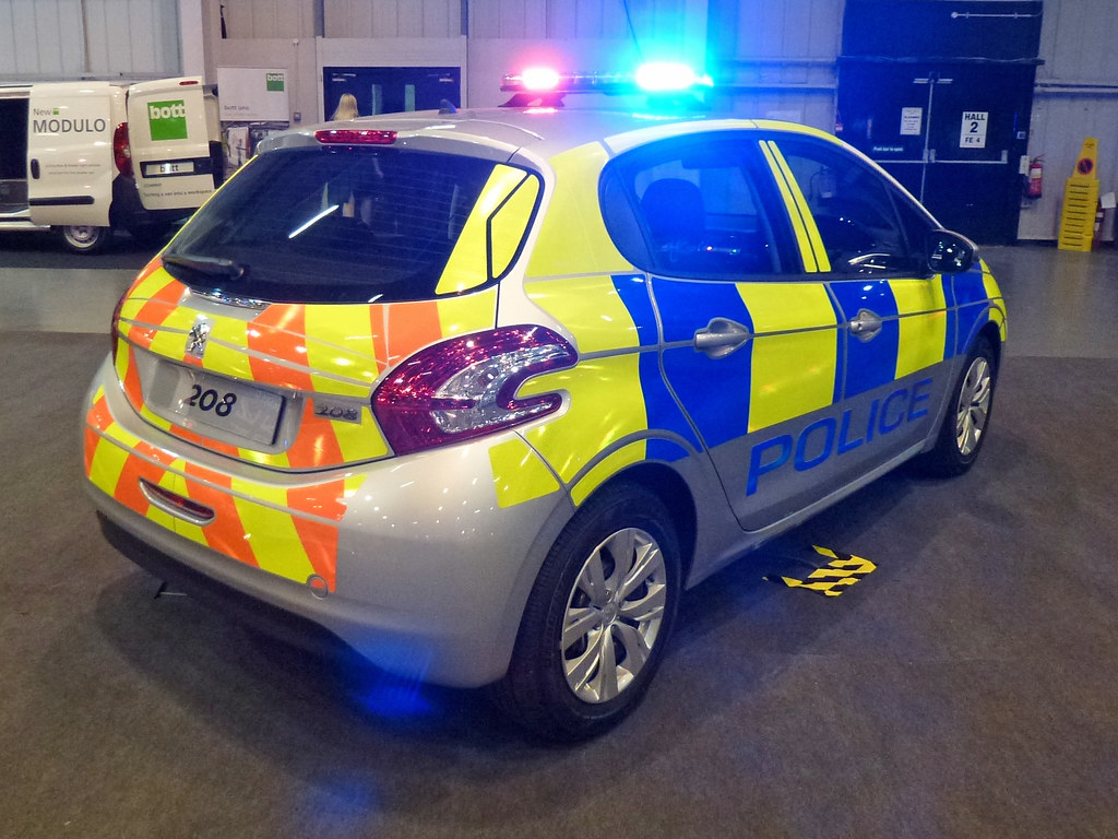 Peugeot 208 Peugeot 208 Police Demonstrator Blue And