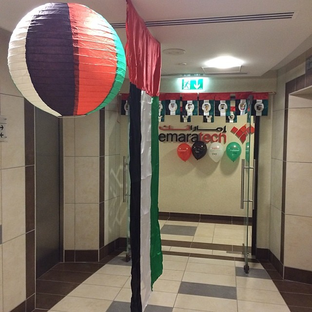 Office decoration nationalday uae imran raheem flickr - Magnificent new year office decoration ...