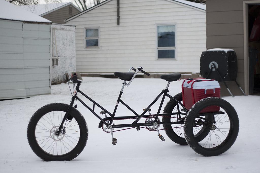 Tandem Trike Fat Bike 1970 S Worksman Tandem Trike