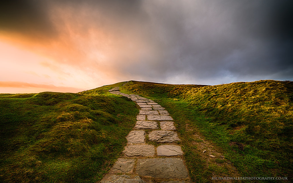 Stairway To Heaven The Path Leading To Mam Tor In The