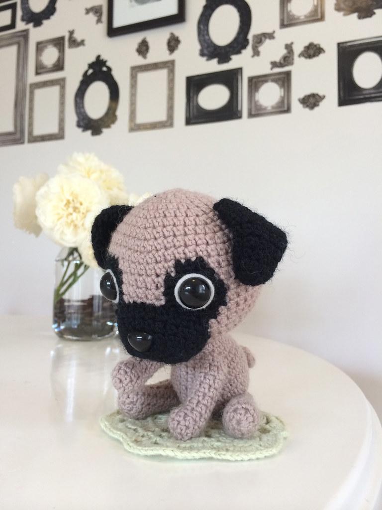 Pug Dog Crochet Pattern Lots Of Ideas Video Tutorial | 1024x768