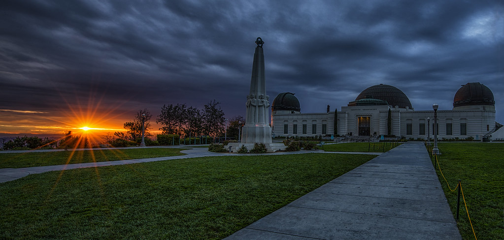 Winter Sunrise At Griffith Observatory So I Was On My
