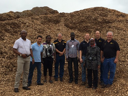 University of Missouri faculty and the Cochran Fellows at the local Foster Brothers Wood Products, Inc. biomass processing facility