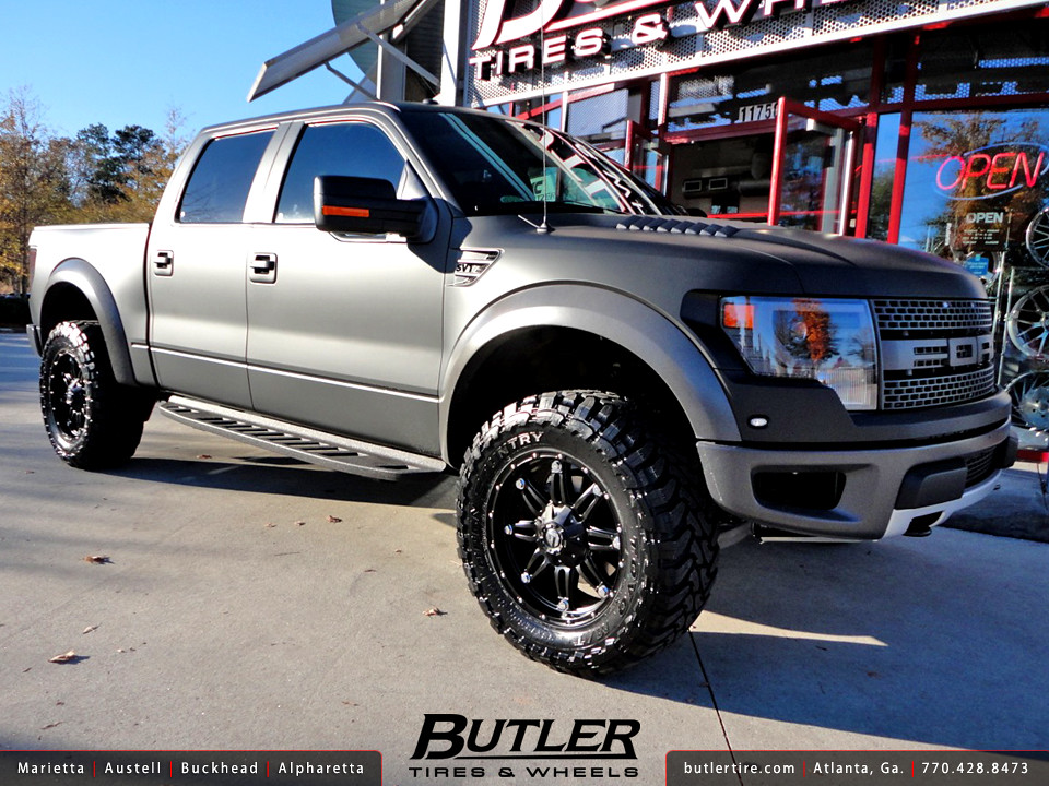 Matte Black Ford Raptor with 20in Fuel Hostage Wheels | Flickr
