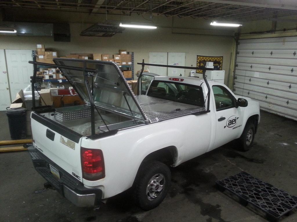 Ladder Rack Amp Hard Truck Bed Cover On Silverado Pickup Tru