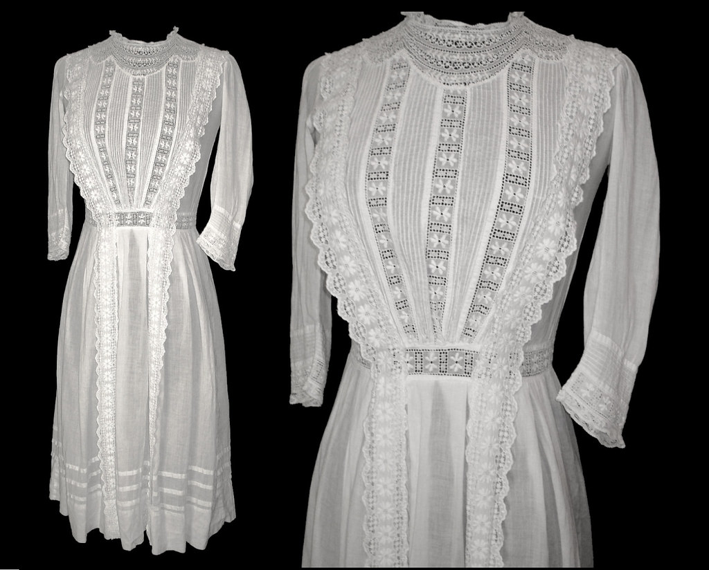 late 1800s 1900s dress edwardian wedding lawn dress tea le… | flickr