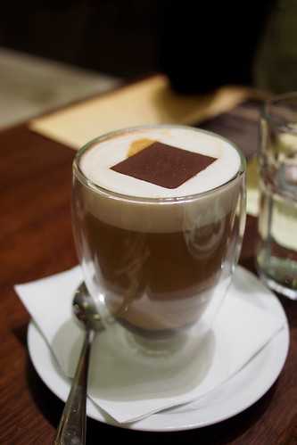 Lindt Chocolate Cafe, Collins Street, Melbourne - signature drink - chocolate and espresso