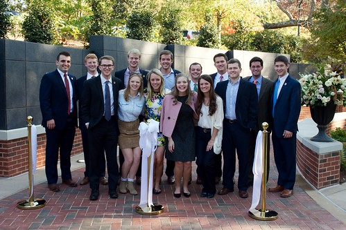 Members of the SGA pose at the Auburn Memorial ribbon cutting.