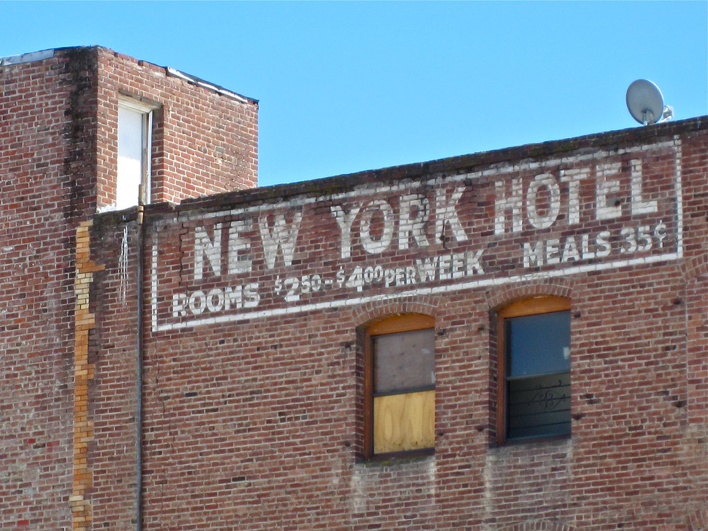 new york hotel stockton ca ghost sign for the new york. Black Bedroom Furniture Sets. Home Design Ideas