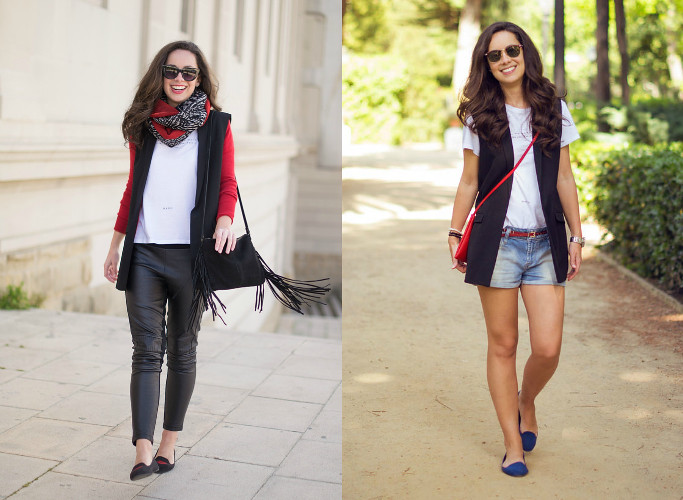 4 maneras de combinar un chaleco negro - Marta Barcelona Style eb84439b6f3d