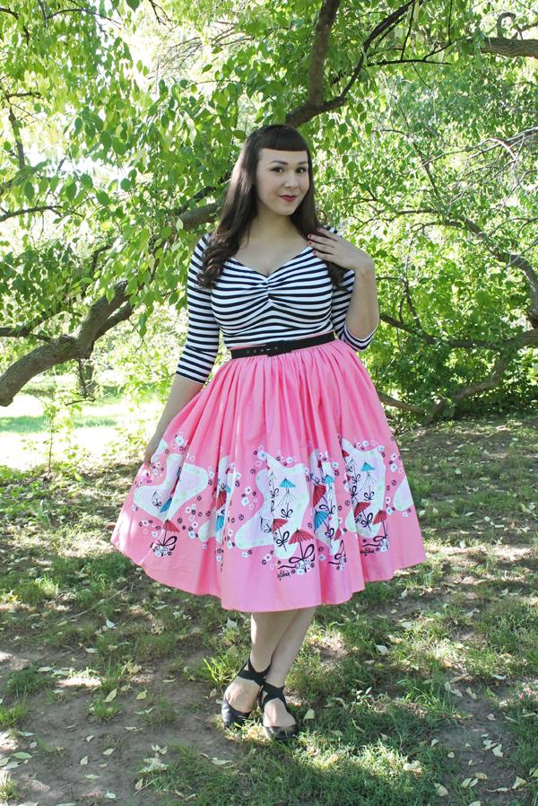 mary blair umbrella skirt pinup