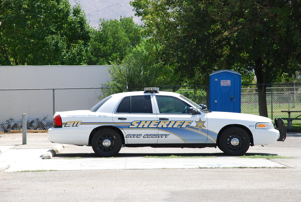 Inyo County Sheriff Ford Crown Victoria In Lone Pine