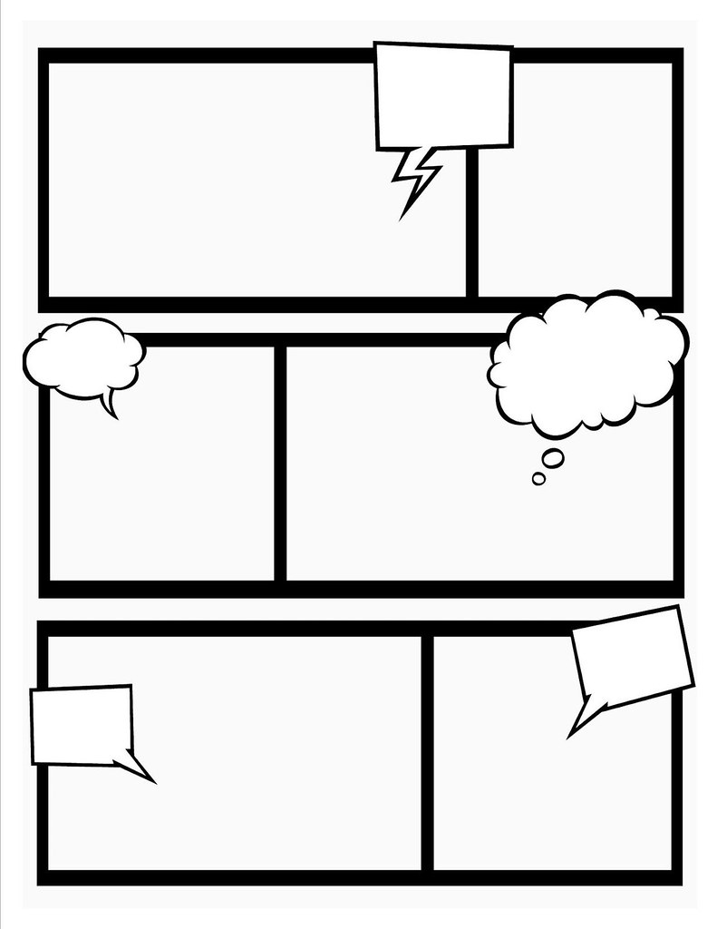Comic book template stretch your creativity and create for Blank book template for kids
