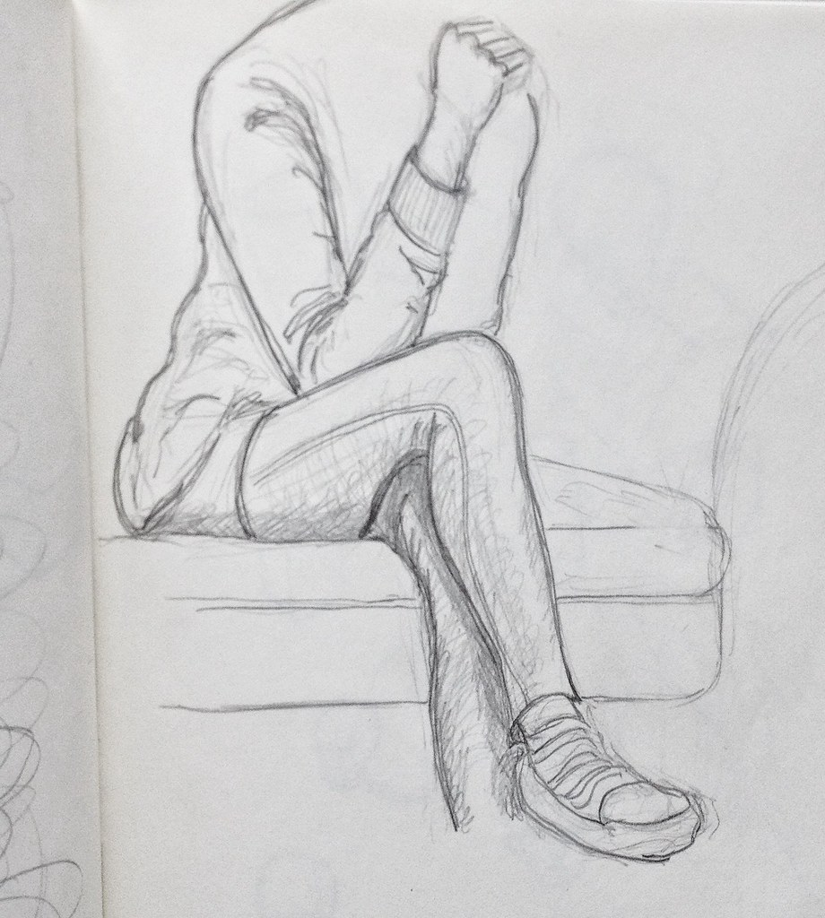How To Draw A Girl Sitting Cross Legged