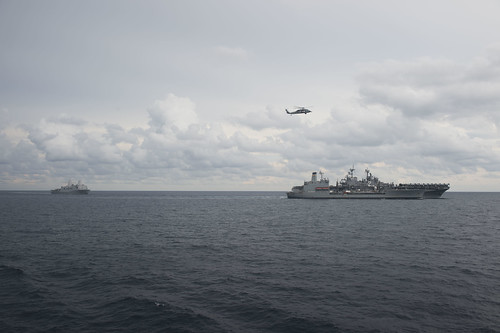 SOUTH CHINA SEA (NNS) -- USS Anchorage (LPD 23) conducted routine operations in international waters during a northbound transit of the South China Sea as part of a deployment to the Western Pacific.