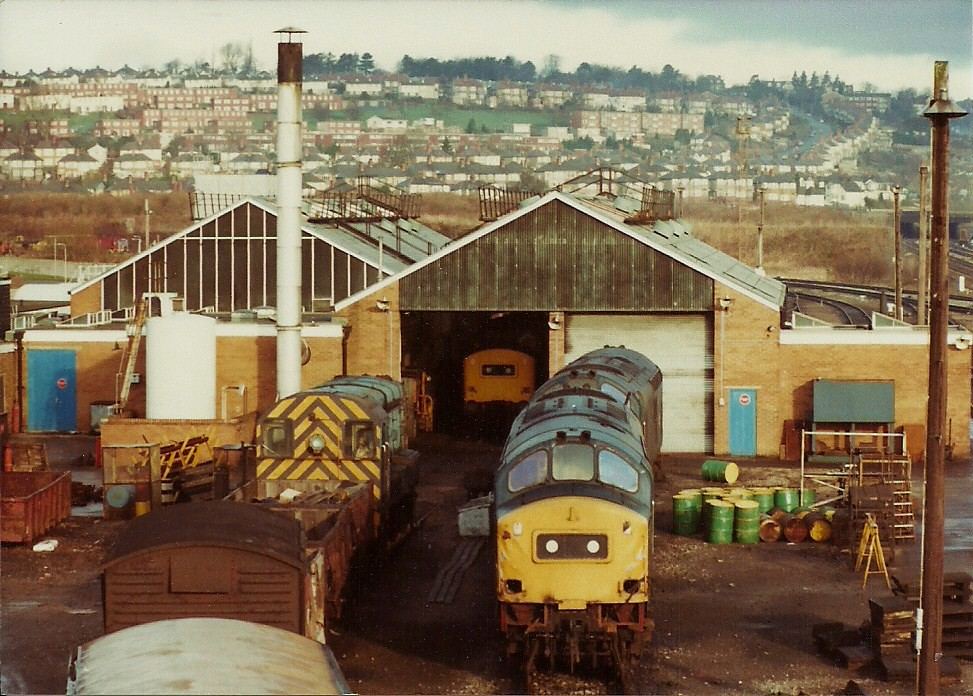 Ebbw Junction depot view | Outside the depot are 08822 ...