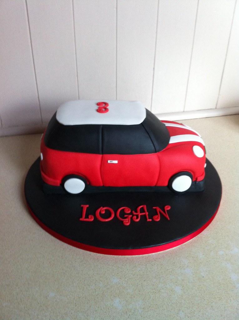 Red Mini Cooper Car Mini Cooper Car Birthday Cake