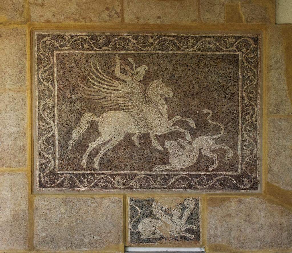 Andron Mosaic Floor Ii Bellerophon Bellerophon The