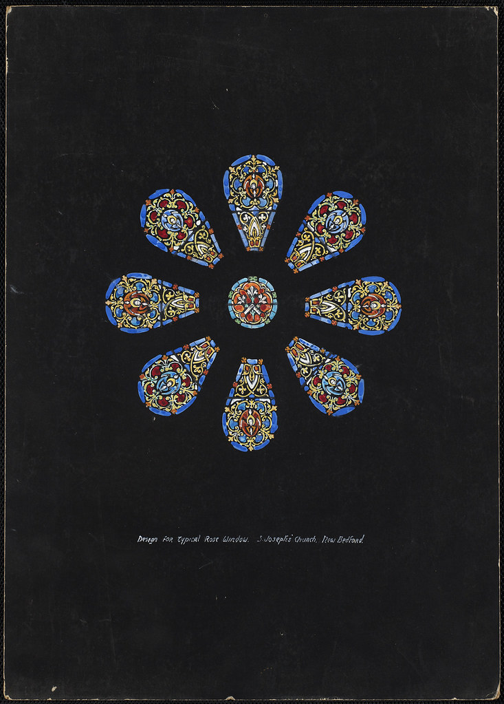 Design for typical rose window s joseph 39 s church new be for Rose window design