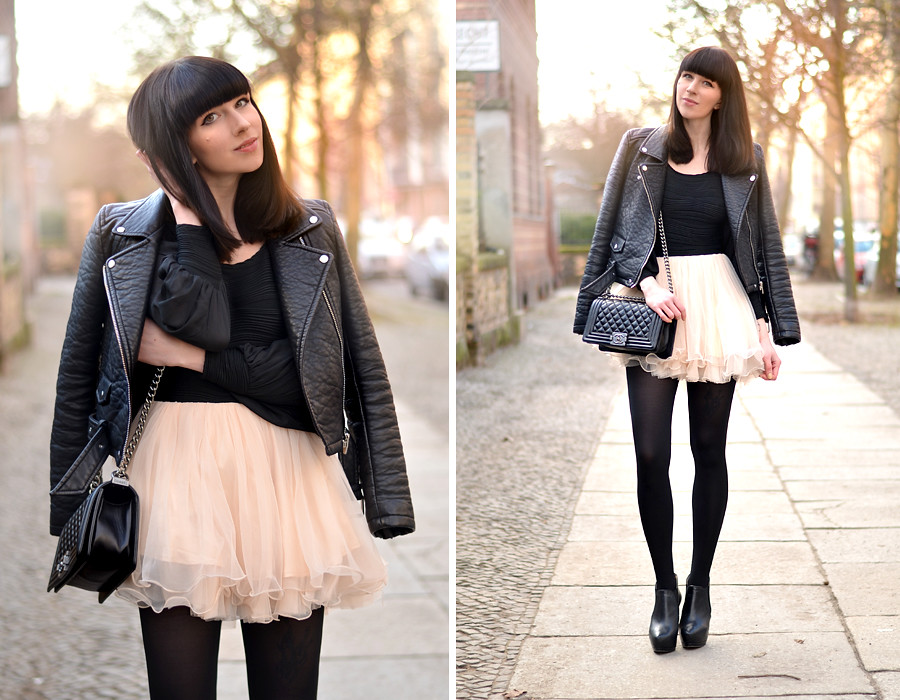 Chicwish Dress Chanel Le Boy Bag Zara Leather Biker Spring