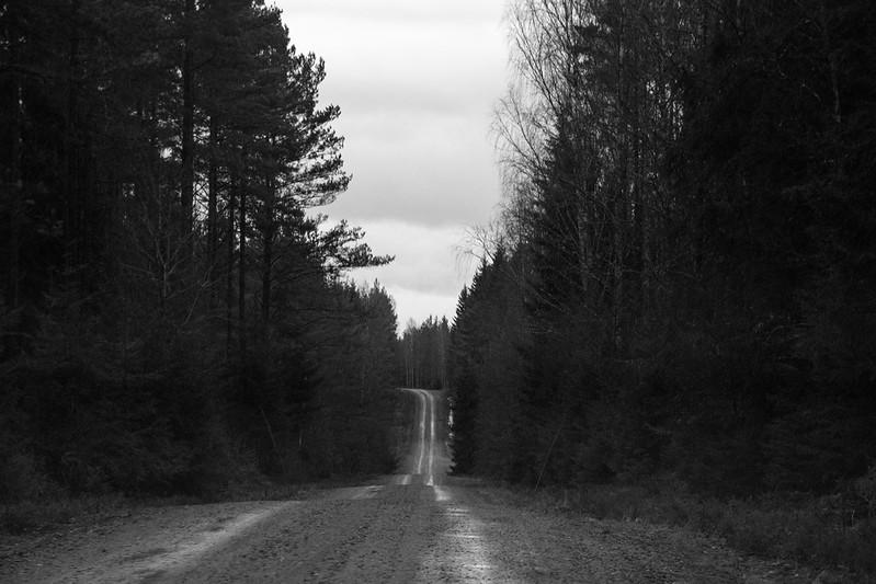 Roadtrip in black and white