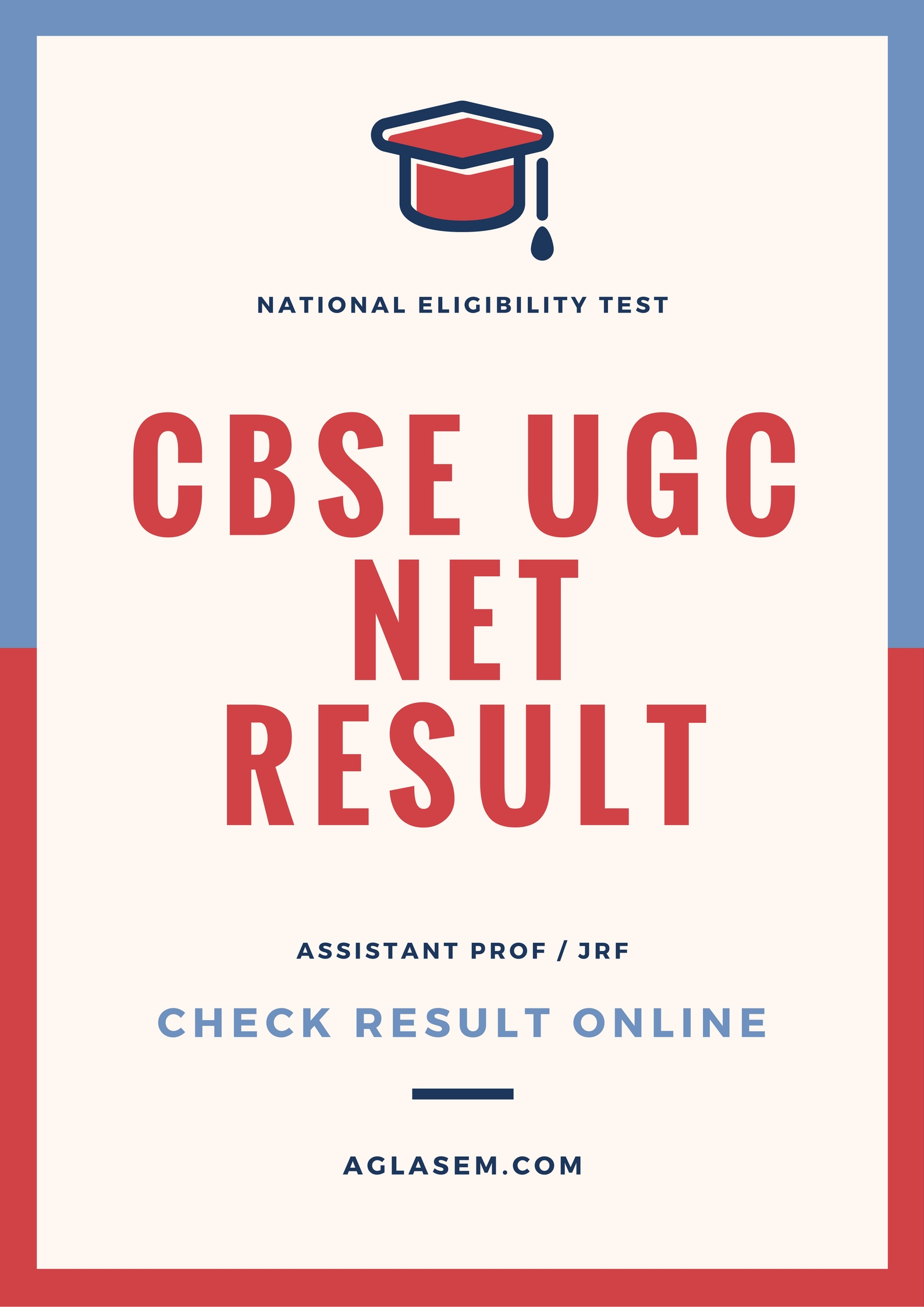 cbse ugc net result 2016 july cut declared check