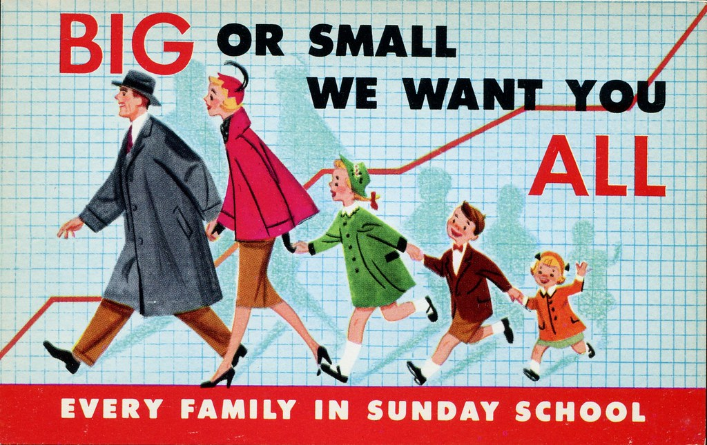 We Want You All Sunday School Invitation Postcard Flickr